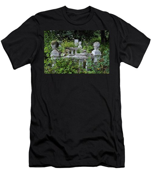 Men's T-Shirt (Slim Fit) featuring the photograph Abandoned Cemetery 2 by Cathy Mahnke