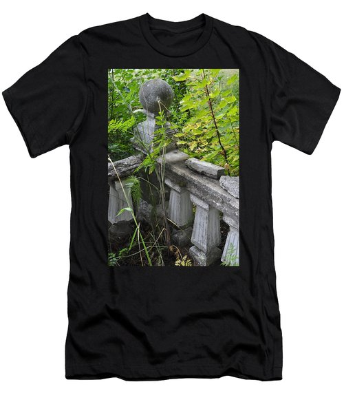 Men's T-Shirt (Slim Fit) featuring the photograph Abandoned Cemetery by Cathy Mahnke