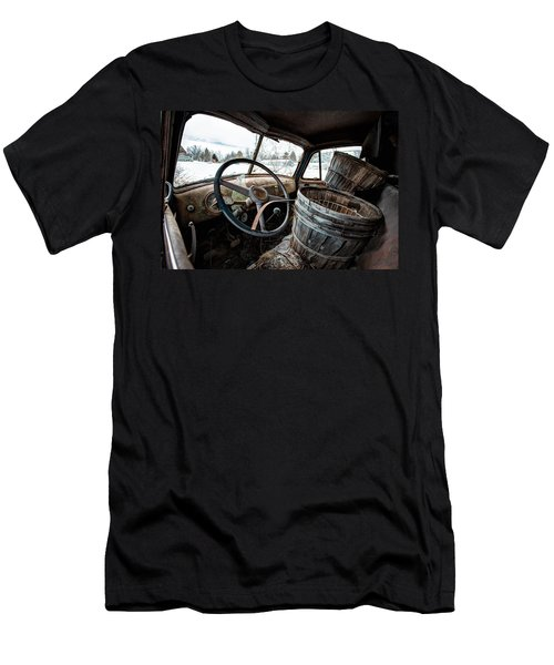 Men's T-Shirt (Slim Fit) featuring the photograph Abandoned Chevrolet Truck - Inside Out by Gary Heller