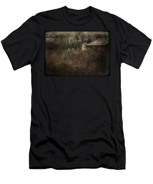 Men's T-Shirt (Slim Fit) featuring the photograph Abandoned Farm by Cynthia Lassiter
