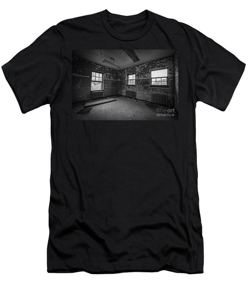 Abandoned Room At Letchworth Bw Men's T-Shirt (Athletic Fit)