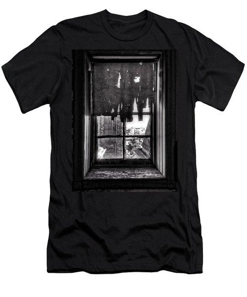 Abandoned Window Men's T-Shirt (Slim Fit) by H James Hoff