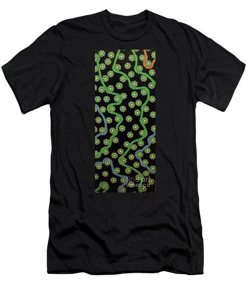 Men's T-Shirt (Slim Fit) featuring the photograph Aboriginal Inspirations 23 by Mariusz Czajkowski