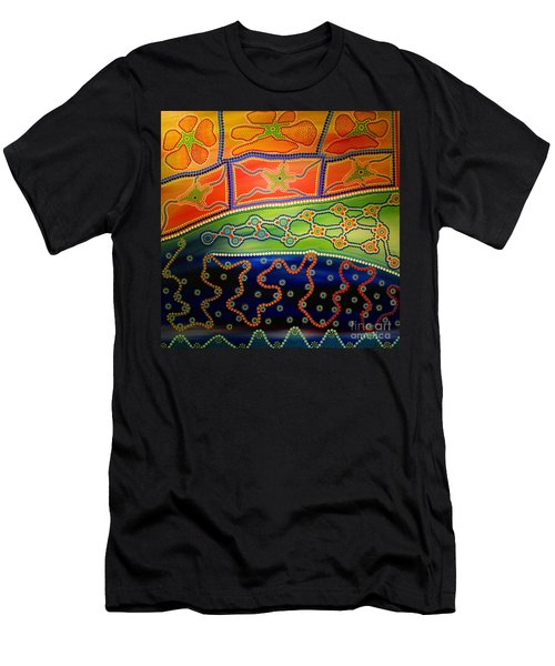 Original Sold Aboriginal Inspirations 7 Men's T-Shirt (Athletic Fit)