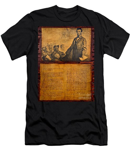Abraham Lincoln The Gettysburg Address Men's T-Shirt (Athletic Fit)