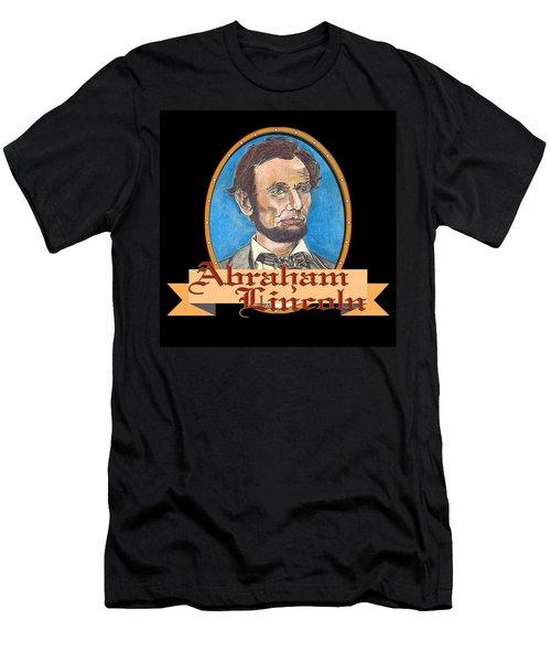 Abraham Lincoln Graphic Men's T-Shirt (Slim Fit) by John Keaton