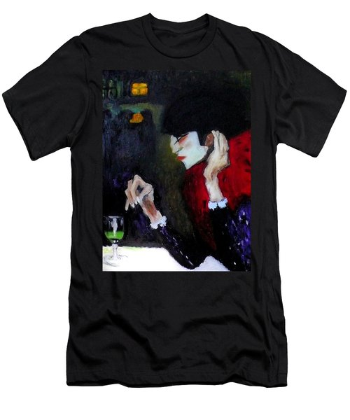 Absinthe Drinker After Picasso Men's T-Shirt (Athletic Fit)
