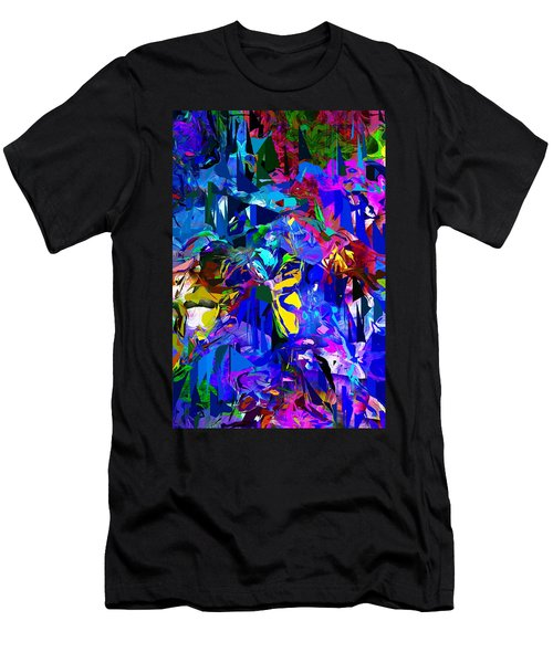 Abstract 010215 Men's T-Shirt (Slim Fit) by David Lane