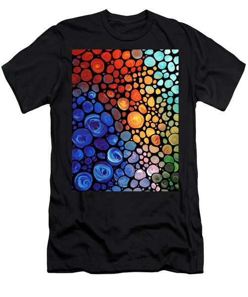 Abstract 1 - Colorful Mosaic Art - Sharon Cummings Men's T-Shirt (Athletic Fit)
