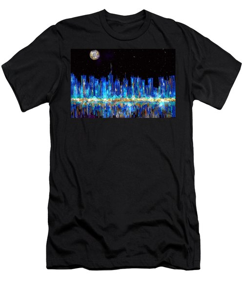 Abstract City Skyline Men's T-Shirt (Athletic Fit)