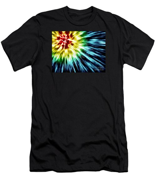 Abstract Dark Tie Dye Men's T-Shirt (Athletic Fit)