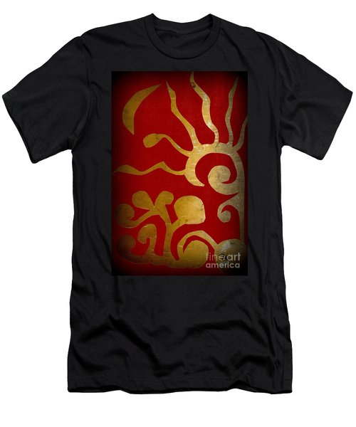 Abstract Gold Collage Men's T-Shirt (Athletic Fit)