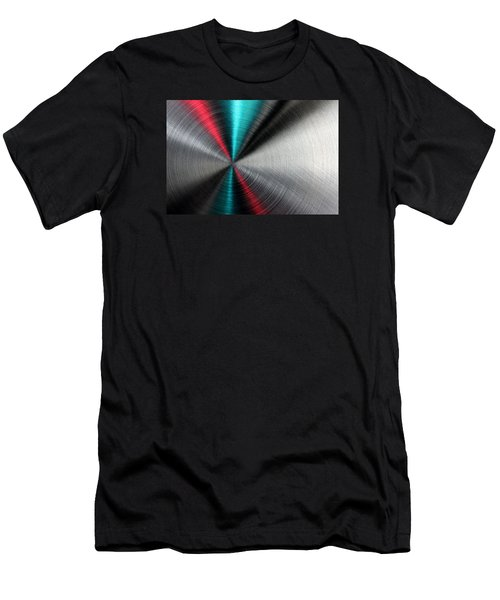 Abstract Metallic Texture With Blue And Red Ray Pattern. Men's T-Shirt (Athletic Fit)