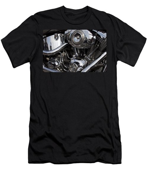 Abstract Motorcycle Engine Men's T-Shirt (Athletic Fit)