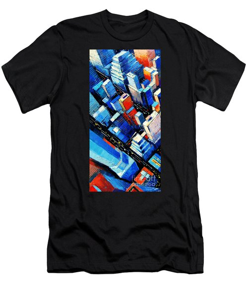 Abstract New York Sky View Men's T-Shirt (Athletic Fit)