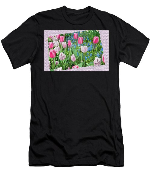 Abstract Spring Floral Fine Art Prints Men's T-Shirt (Athletic Fit)