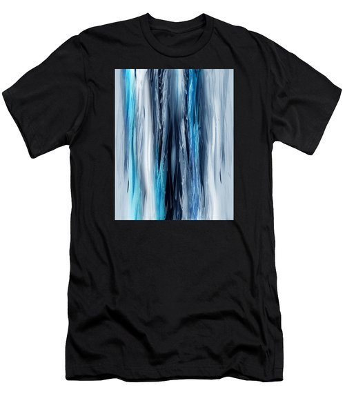 Abstract Waterfall Turquoise Flow Men's T-Shirt (Athletic Fit)