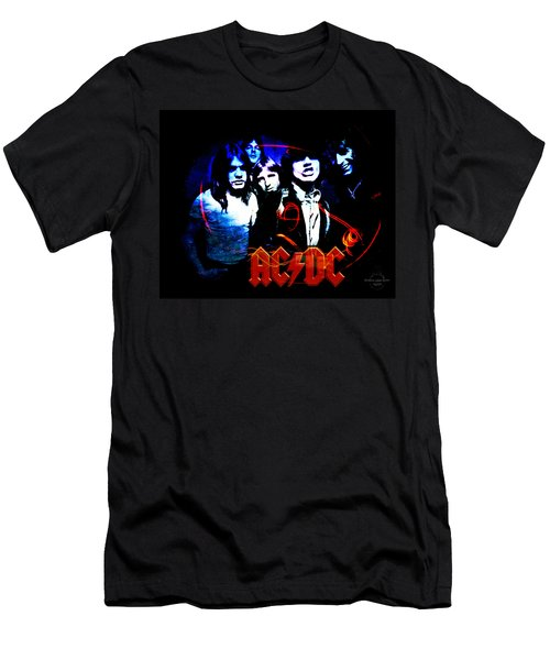 Ac/dc  Men's T-Shirt (Slim Fit) by Absinthe Art By Michelle LeAnn Scott