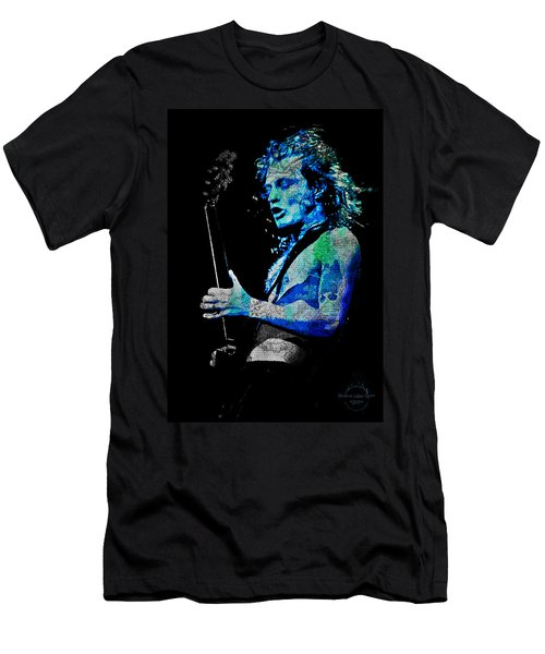 Ac/dc - Angus Young Men's T-Shirt (Slim Fit) by Absinthe Art By Michelle LeAnn Scott
