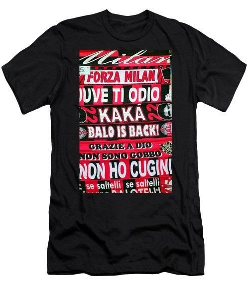 Ac Milan Fans Scarves  Men's T-Shirt (Slim Fit) by Valentino Visentini