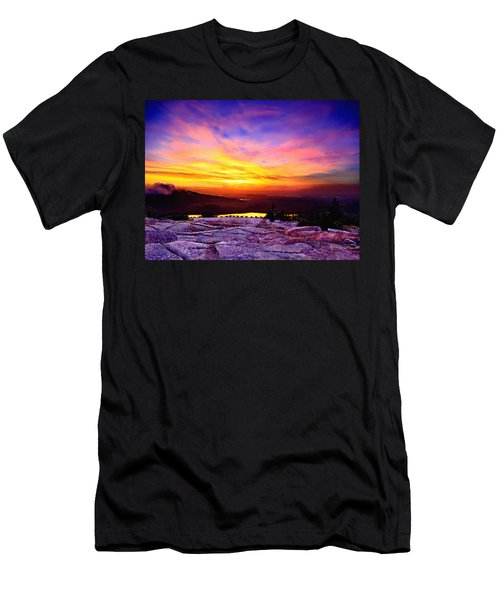 Acadia National Park Cadillac Mountain Sunrise Forsale Men's T-Shirt (Athletic Fit)