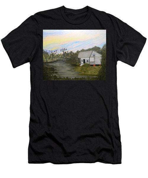 Acadian Home On The Bayou Men's T-Shirt (Athletic Fit)