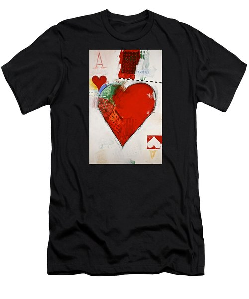 Ace Of Hearts 8-52 Men's T-Shirt (Athletic Fit)
