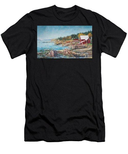 Across The Bridge Men's T-Shirt (Athletic Fit)