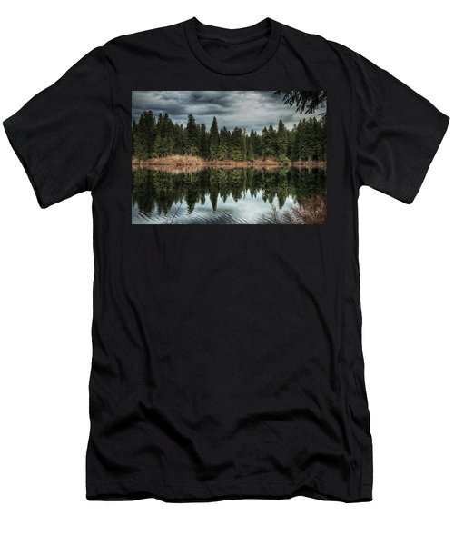 Across The Lake Men's T-Shirt (Athletic Fit)