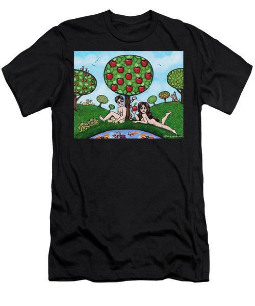 Adam And Eve The Naked Truth Men's T-Shirt (Athletic Fit)
