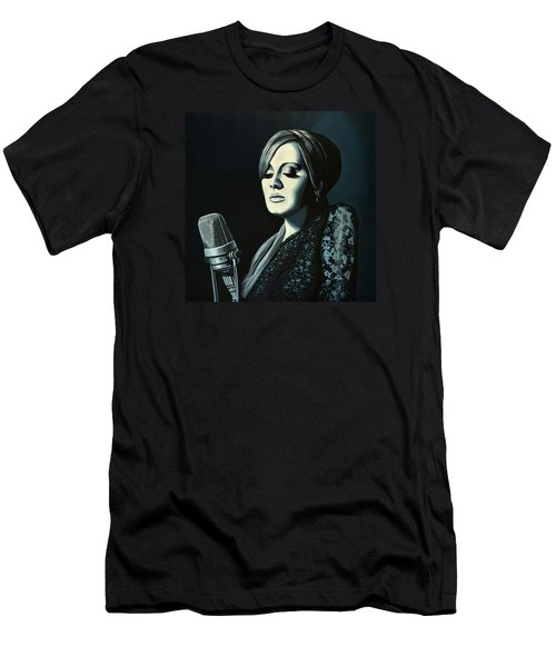 Adele Skyfall Painting Men's T-Shirt (Slim Fit) by Paul Meijering