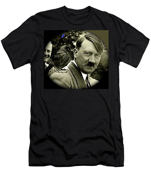 Adolf Hitler And A Feathered Friend C.1941-2008 Men's T-Shirt (Athletic Fit)