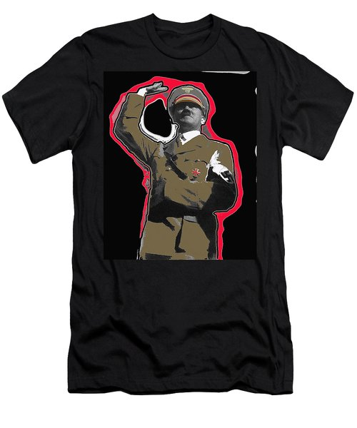 Adolf Hitler Saluting 2 Circa 1933-2009 Men's T-Shirt (Slim Fit) by David Lee Guss