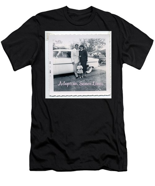 Adoption Saves Lives Men's T-Shirt (Athletic Fit)