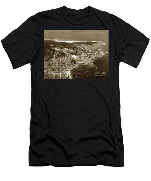 Aerial  Of Monterey Calif. Oct. 25 1934 Men's T-Shirt (Athletic Fit)