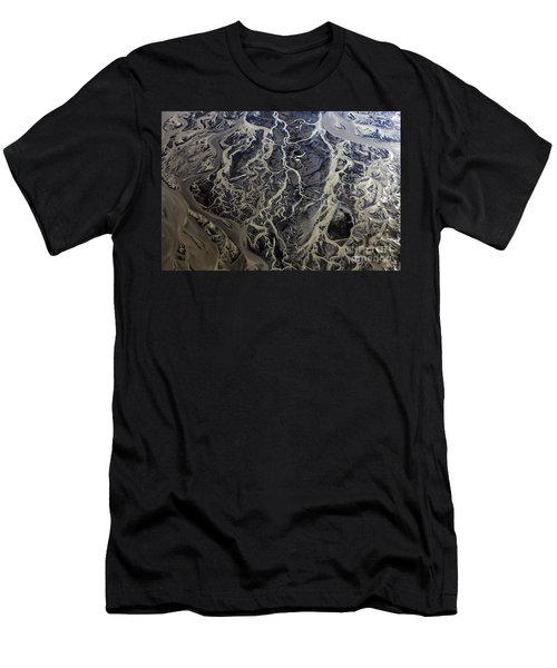 Men's T-Shirt (Slim Fit) featuring the photograph Aerial Photography by Gunnar Orn Arnason