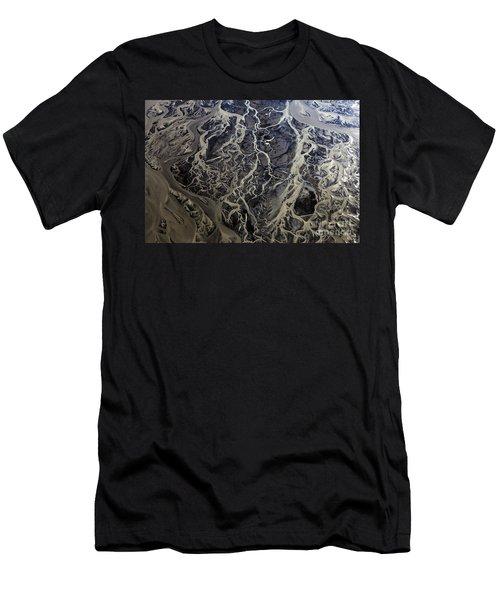 Aerial Photography Men's T-Shirt (Slim Fit) by Gunnar Orn Arnason