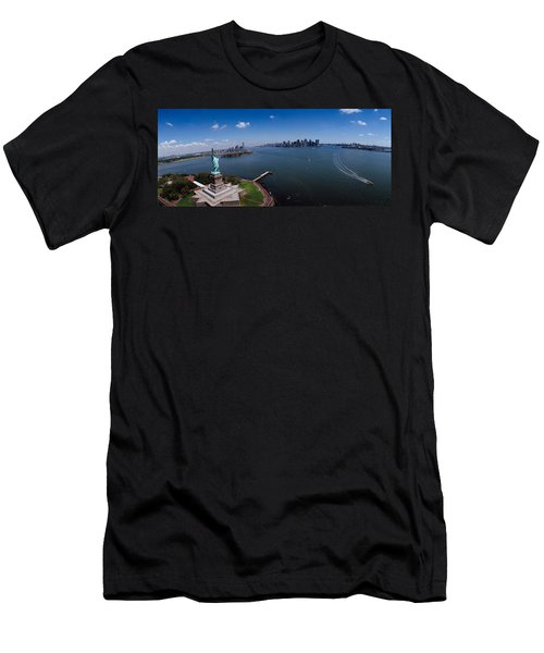 Aerial View Of A Statue, Statue Men's T-Shirt (Athletic Fit)