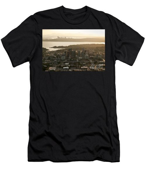 Aerial View Of Bellevue Skyline Men's T-Shirt (Athletic Fit)