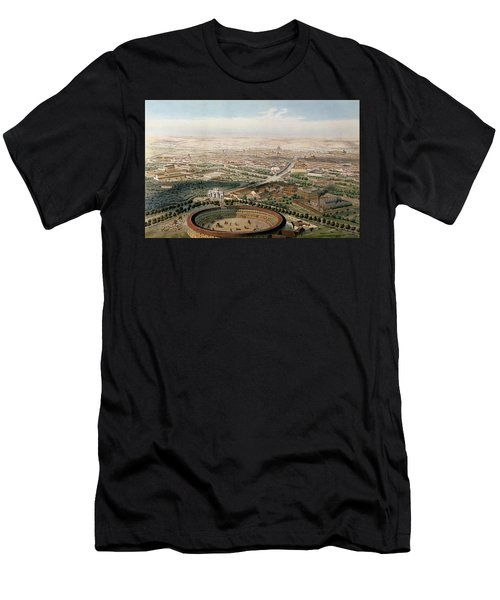 Aerial View Of Madrid From The Plaza De Toros Men's T-Shirt (Athletic Fit)
