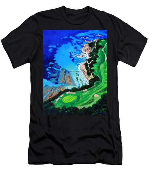 Aerial View Of Pebble Beach Men's T-Shirt (Athletic Fit)