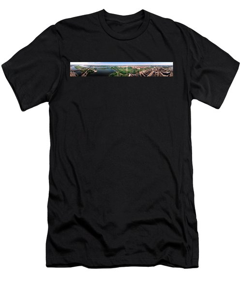 Aerial Washington Dc Usa Men's T-Shirt (Slim Fit) by Panoramic Images