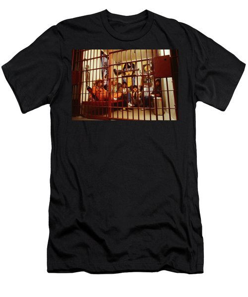Aerosmith - In A Cage 1980s Men's T-Shirt (Slim Fit) by Epic Rights