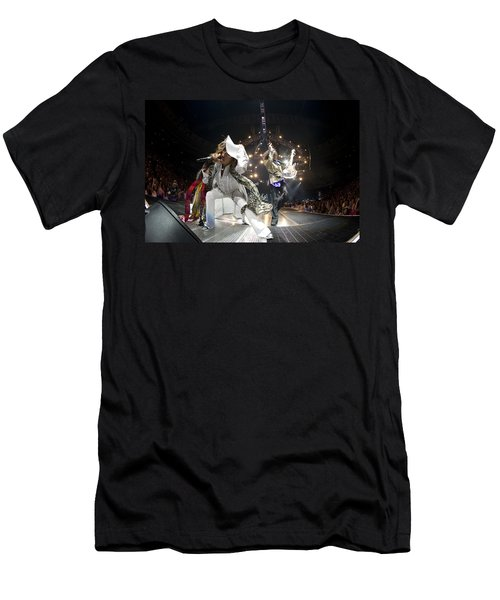 Aerosmith - On Stage 2012 Men's T-Shirt (Slim Fit) by Epic Rights
