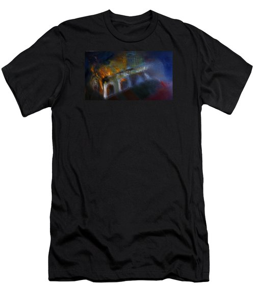 Men's T-Shirt (Slim Fit) featuring the painting Aflame by Lisa Kaiser