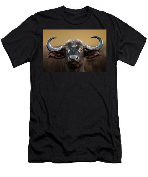 African Buffalo Cow Portrait Men's T-Shirt (Athletic Fit)