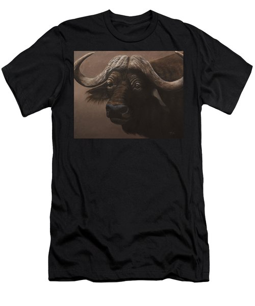 Men's T-Shirt (Athletic Fit) featuring the painting African Buffalo by Tammy Taylor