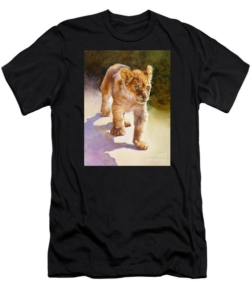 African Lion Cub Men's T-Shirt (Athletic Fit)