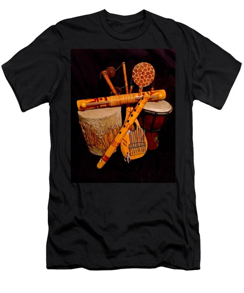 African Musical Instruments Men's T-Shirt (Athletic Fit)