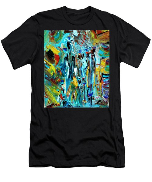 African Tribe Festivals Men's T-Shirt (Slim Fit) by Kelly Turner